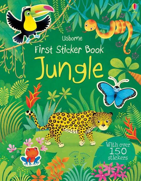 Carte cu stickere/abțibilduri first sticker book jungle