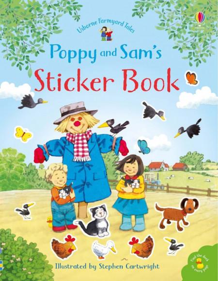 Carte cu stickere, Poppy and Sam's sticker book, usborne