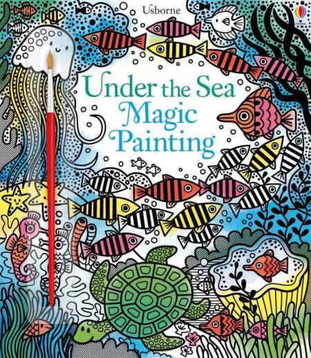 Carte de pictat doar cu apa, Under the sea magic painting book
