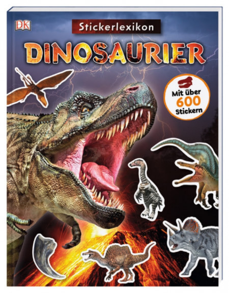 Carte in limba germana cu stickere, Sticker-Lexikon, Dinosaurier, dK, 4+