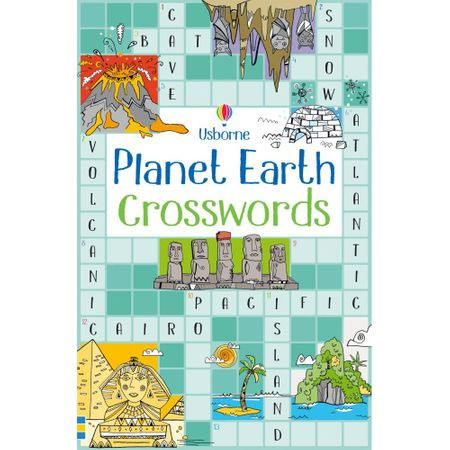 "Carte ""Planet earth crosswords"", 6 ani+, Usborne"
