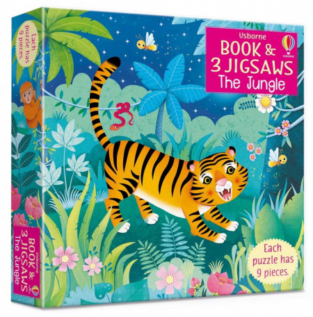 Carte si puzzle, The Jungle picture book and three jigsaws, Usborne