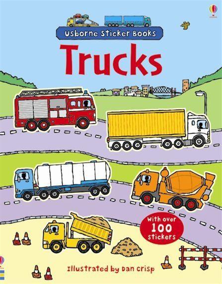 First Sticker Book Trucks, 3+, Usborne