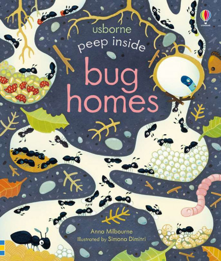 Peep inside bug homes, usborne
