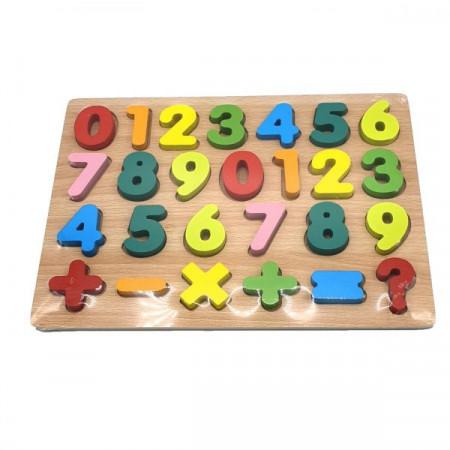 Puzzle educativ, incastru, din lemn - cifre, E-ducare