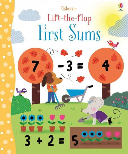 Carte cu multe clapete pentru copii curiosi, Lift the flap, first sums