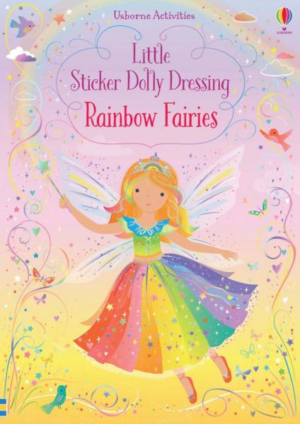 Carte cu stickere, Little Sticker Dolly Dressing Rainbow Fairy, Usborne, 3+
