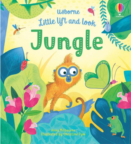 Carte integral cartonata, Little Lift and Look Jungle, usborne, +10 luni