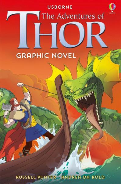 "Carte ""The Adventures of Thor graphic novel"" , 7 ani+, Usborne"