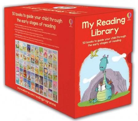 O colectie impresionanta de 50 carti de citit in limba engleza, my reading library collection, usborne