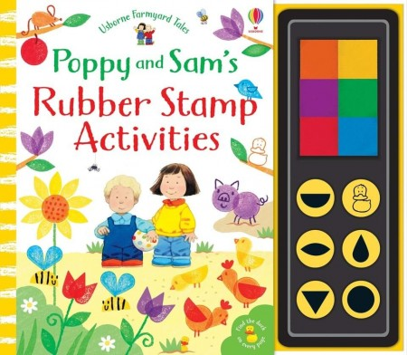 Poppy and Sam's rubber stamp activities, carte de pictat cu degetele și stampile, usborne
