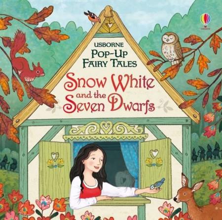 """Carte 3D, pop-up """"Snow White and the Seven Dwarfs"""", Alba ca zăpada si cei șapte pitici, Usborne"""