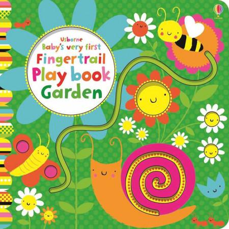 Carte senzorială, Baby's very first garden playbook fingertrail, usborne