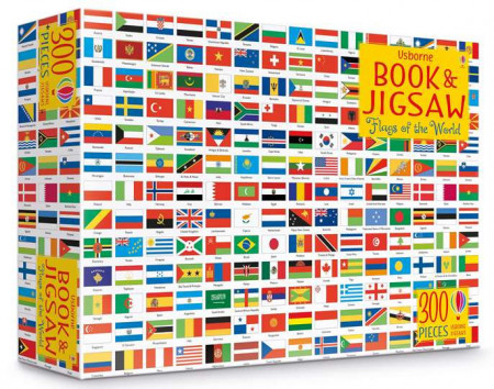 Carte și puzzle, Flags of the world book and jigsaw