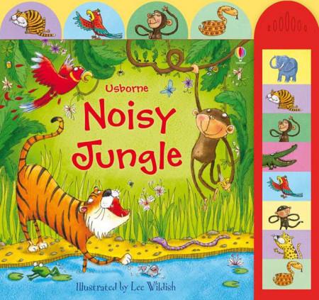 Carte sonora Noisy jungle, cu animale din jungla