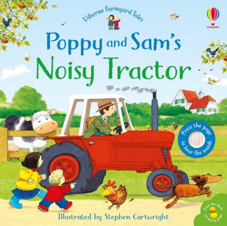 Carte sonora Poppy and Sam's Noisy Tractor, Usborne