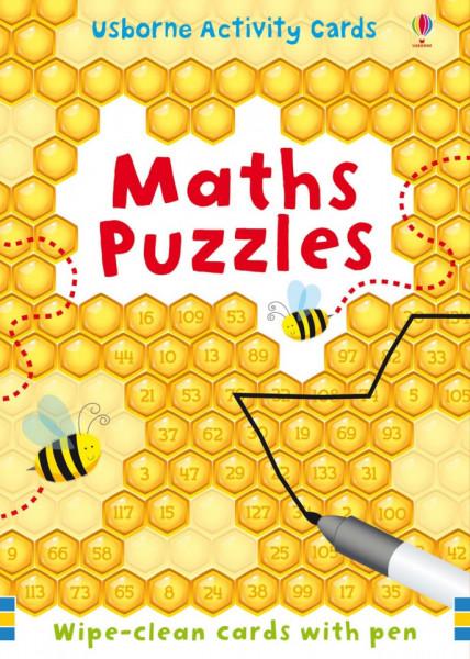 Pachet de carduri wipe and clean, de tip scrie si sterge, Maths Puzzles