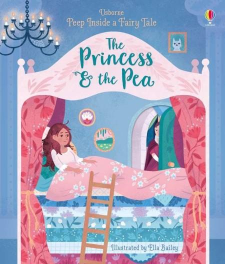 Peep inside a fairy tale: The Princess and the Pea, carte cu multe clapete, usborne