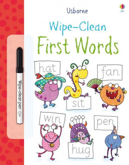 """Carte cu marker de tip """"scrie si sterge"""", Wipe-clean First words, Usborne"""