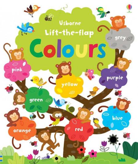 Carte cu multe clapete pentru copii curiosi, Lift the flap Colours, usborne