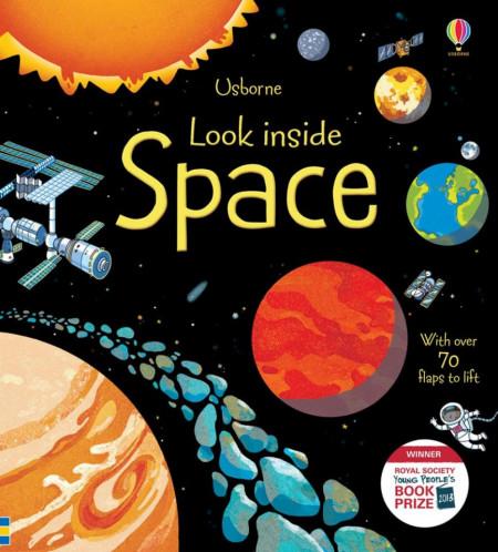 Carte cu multe clapete pentru copii curiosi, Look inside space