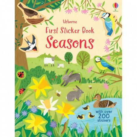 """Carte de activitati """"First Sticker Book Seasons"""", 3 ani+, Usborne"""