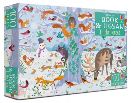 In the forest puzzle book and jigsaw, carte si puzzle, Usborne