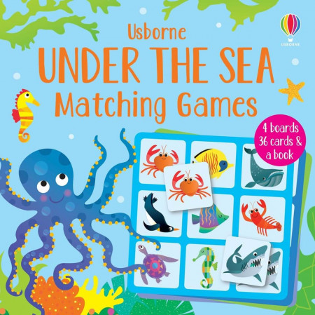 Joc educativ, Under the Sea Matching Games, Usborne, 2+