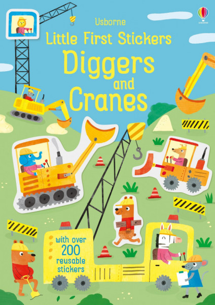 Little First Stickers Diggers and Cranes, 3+, Usborne