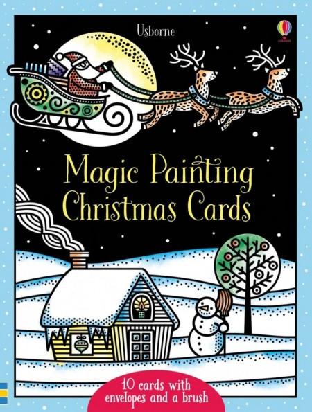 Magic painting Christmas cards, 10 felicitari de pictat doar cu apa, Usborne