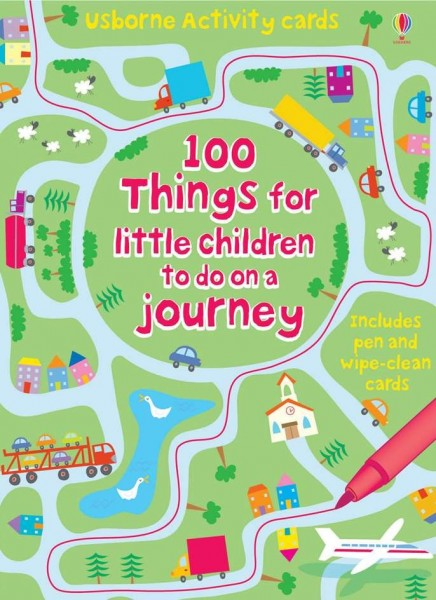 100 things for little children to do on a journey, wipe and clean cards