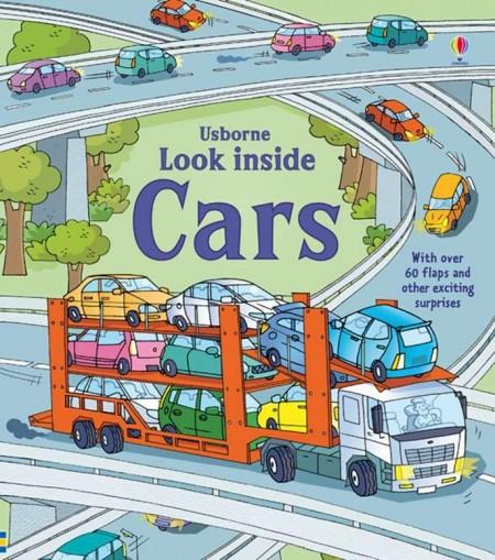 Carte cu multe clapete pentru copii curiosi, Look inside cars