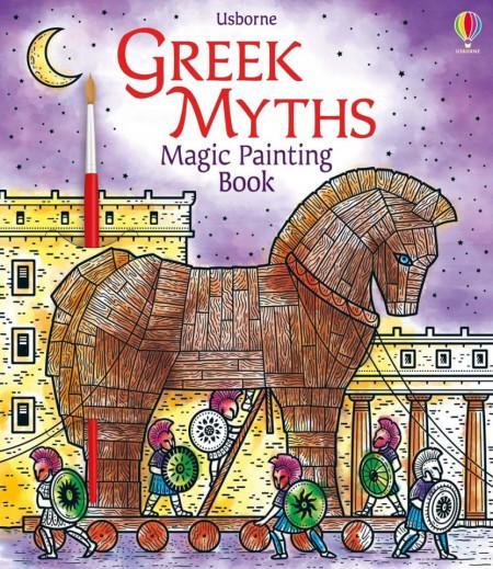 Carte magica de pictat doar cu apa, Greek Myths magic painting book, usborne