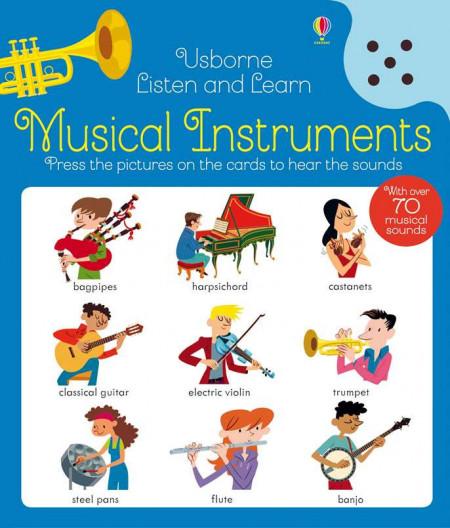 Carte sonora cu instrumente muzicale, Listen and learn musical instruments, usborne