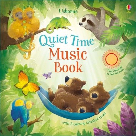 Carte sonora pentru bebelusi si toddleri, quiet time music book, usborne
