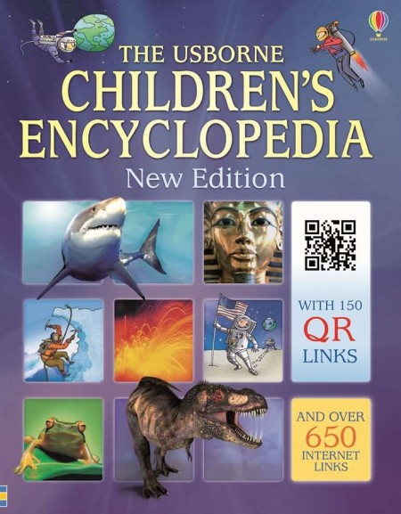 Children's encyclopedia with QR links, coperta cartonata, Usborne