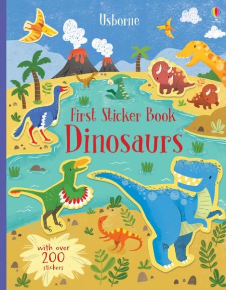Dinosaurs, first sticker book, usborne