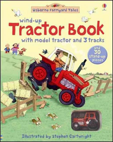 Farmyard Tales Wind-Up Tractor Book , carte cu tractor de jucărie, usborne