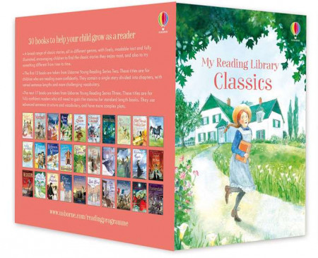 My classics reading library, pachet de 30 povesti clasice, usborne