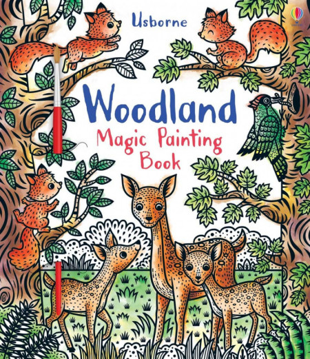 Woodland magic painting book, carte de pictat doar cu apa, usborne