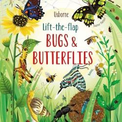 Carte cu multe clapete pentru copii curiosi, Lift the flap bugs and butterflies, usborne