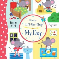 Carte cu multe clapete pentru copii curiosi, Lift the flap my day, carte usborne cu multe clapete