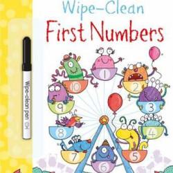 Carte de tip scrie și șterge la nesfârșit wipe-clean first numbers