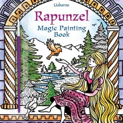 Carte magica de pictat doar cu apa, Rapunzel magic paint, usborne