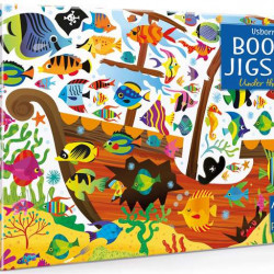 Carte și puzzle, Under the sea puzzle book and jigsaw, usborne
