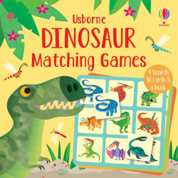 Joc educativ, Dinosaur Matching Games, Usborne, 2+