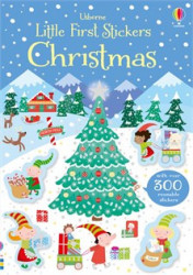 Little first stickers Christmas, carte cu peste 300 stickere de cracium