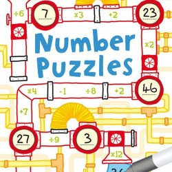 Number puzzles, wipe and clean cards