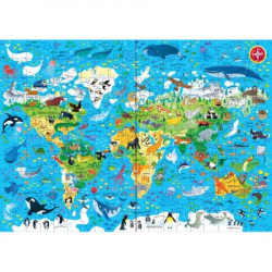 "Set Puzzle ""Animals of the world"" de Sam Smith, 5 ani+, Usborne"