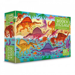 "Set Puzzle ""Dinosaurs puzzle book and jigsaw"" de Sam Smith, 5 ani+, Usborne"